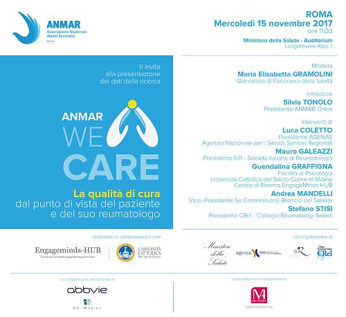 Locandina dell'evento di presentazione di WE CARE