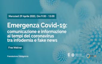 Webinar su COVID-19 e informazione